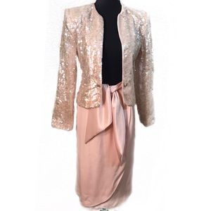 Vintage Lilli Rubin Sequin skirt suit set